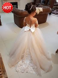 flower girl dresses buy gown neck light chagne tulle flower girl dress