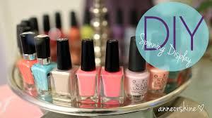 diy rotating nail polish u0026 jewelry display easy cute how to make