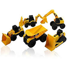 construction cake toppers cat mini machine caterpillar construction truck