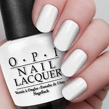 alpine snow nail lacquer opi