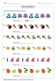 all worksheets grade 2 patterns worksheets printable