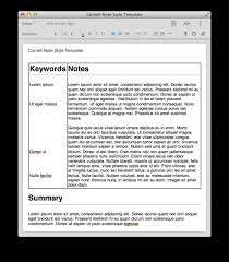 Templates Evernote by Cornell System Style Note Taking Option Evernote General