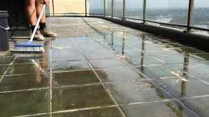 Regrouting Floor Tiles Tips by Efflorescence Buildup On Ceramic Balcony Tile Youtube