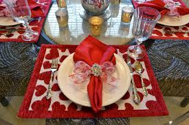 Valentines Day Table Decor Valentine Days Cool Dinner Napkin Pattern For Dining Table