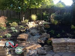 garden waterfalls ideas home outdoor decoration