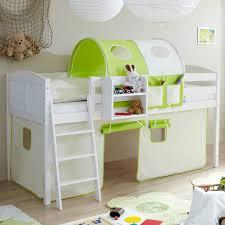 kinderbett mit treppe ticaa hochbett eric kiefer weiß country beige grün ticaa