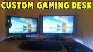 Custom Gaming Desks Timber Desks Custom Made Solid Furniture Built Photo Gallery
