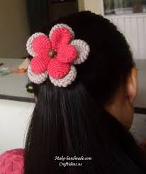 flower for hair crochet bows and flowers for hair accessories craft ideas
