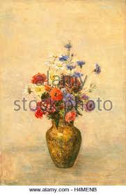 Vase French Flowers In A Vase By Odilon Redon 1910 French Painting Oil On