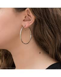 silver hoop earrings check out these hot deals on large silver hoops 50mm big silver