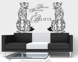 Stickers For Walls In Bedrooms by Cheetah Wall Decal Etsy