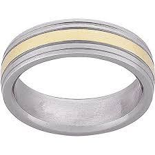 two tone wedding rings men s titanium two tone wedding band 6mm walmart