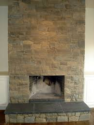 Concrete For Fireplace by No Mantel Limestone Fireplace S U0026p Building Materials