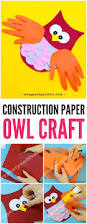 construction paper owl craft paper owls owl crafts and