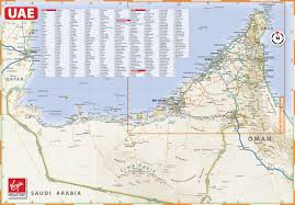 Map Of Al Large Detailed Map Of Uae With Cities And Towns