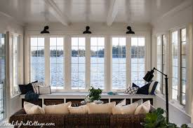 House With Sunroom Lake House Sunroom It U0027s Done The Lilypad Cottage