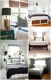 Bedroom Decorating Ideas Bed In Front Of Window Sidelight Window Treatments Bed Bath And Beyond Business For