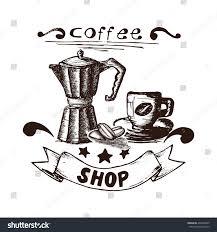 espresso coffee clipart hand drawn coffee espresso coffee maker stock vector 403202869