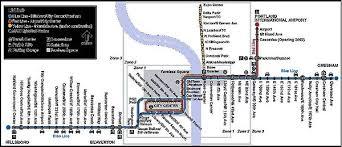 portland light rail map 4 railway technology