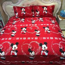 Mickey Duvet Cover 100 Cotton Mickey Mouse Single Full Queen King Size Bed Linen