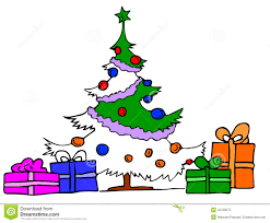 christmas tree with gifts stock vector image 45109575