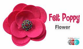 how to make a felt poppy flower theribbonretreat com youtube