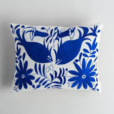 Royal Blue Bathroom Decor by Royal Blue Otomi Lumbar Pillow K Colette