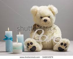 s day teddy bears st valentines day teddy bears candles stock photo 346832879
