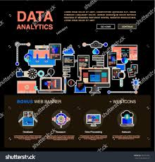 one page data analytics web design stock vector 402373765