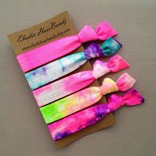 tie dye headbands tie dye hair ties or headbands cotton candy ponytail holder