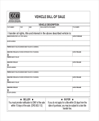 Exles Of Bill Of Sale For Cars by Dmv Forms Oregon Form Localfusion Co