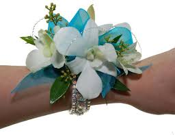 Corsage Flowers All About Teal Wrist Corsage Flowers By Steen
