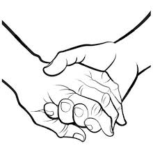 couple holding hands clipart 26