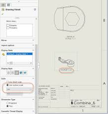 automatically add a solidworks scale label to all drawing views