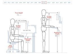 desk height for 6 2 standard chair height smartqme com
