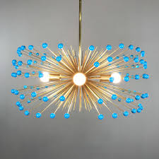 Beaded Turquoise Chandelier Urchin Chandelier With Colored Beads