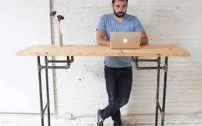 Raised Desk Shelf Best 25 Standing Desks Ideas On Pinterest Diy Desk With Regard