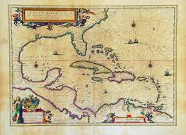 Map Of Caribbean Islands by Insulae Americanae In Oceano Septentrionali Terris