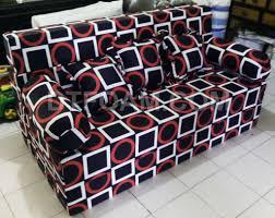 Sofa Bed Murah P U003esofa Bed Inoac Trendy Multi Fungsi Hitam Kotak Merah Putih