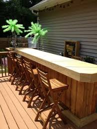 Good Idea For Small Bar In The Corner Of The Deck Pool - Outdoor backyard bars designs