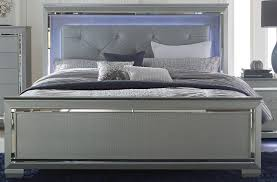 Queen Size Bed With Mattress Homelegance Allura Collection Queen Size Bed With Led Lighting