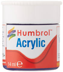 humbrol 12ml acrylic paint no 64 matt light grey amazon co uk