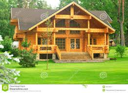 beautiful wooden house in the forest stock photo 43178377 megapixl