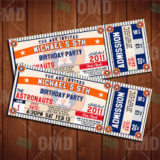 baby shower sports invitations 2 5x6 5 houston astros sports party invitation sports tickets
