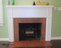 living room with red brick fireplace decorating clear