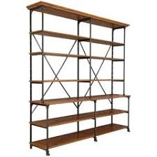 Industrial Shelving Unit by Mid 20th Century Brass Glass Shelving Unit At 1stdibs
