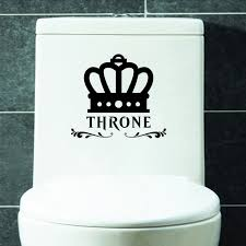 Home Decoration Online Shop Online Shop 2 Pcs Set The Throne Quotes Toilet Wall Stickers For