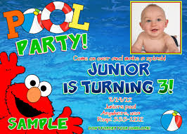 elmo online invitations elmo pool party invitations alesi info
