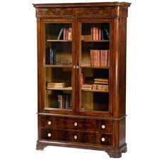 bookcase lawyer glass door stack bookcases antique library