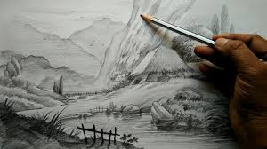 how to do pencil sketch road pencil drawing pencil and in color road pencil